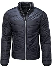 06d244ff7d35 Jack   Jones Mens Puffer Jacket Zoom Lightly Padded Funnel Neck Zip Up Coat