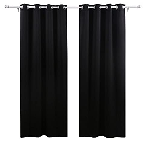 Curtains Bedroom, Xjp Thermal Insulated Blackout Curtains Window Panel Super