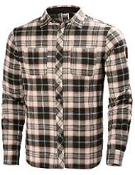 Helly Hansen Legacy Flannel - Camisa manga larga para hombre, color verde, talla XXL
