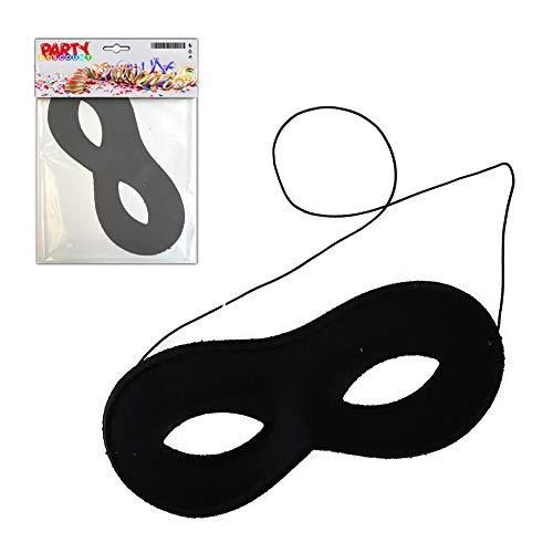 PARTY DISCOUNT ® Maske Stoffbrille, schwarz