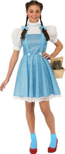 Dorothy Damenkostüm Karneval Verkleidung, Blau/Weiß, Teen (Für Kostüme Oz Erwachsene Dorothy)