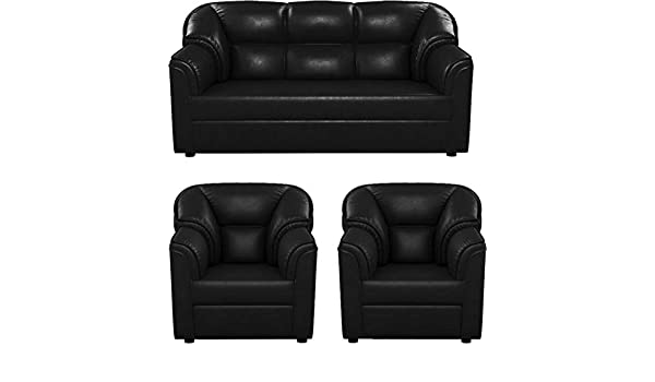 Admirable Westido Manhattan 3 1 1 Sofa Set Black Amazon In Home Inzonedesignstudio Interior Chair Design Inzonedesignstudiocom