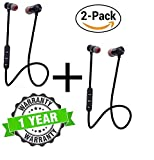 Kingsford Pack of Two Magnetic Bluetooth Attractive Headphone Headset with Noise Isolation