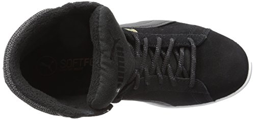 Puma Vikky Mid Twill SFoam Daim Bottte Chukka Black