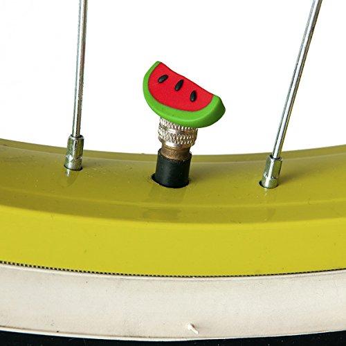Bikebelle® STYLISCHE VENTILKAPPEN |Verschiedene Motive (Fahrrad Schrader Autoventil Wetterfest Langlebig Cool), BikeBell:Watermelons