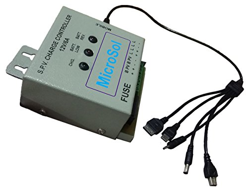 Microsol Solar Charge Controller With Mobile Charger 12V 6amp PWM