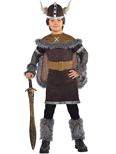 BOYS VIKING WARRIOR COSTUME - MEDIUM (6 - 8 - Viking Boy Kinder Kostüm