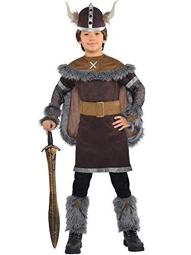 Wikinger Kostüm Junge - BOYS VIKING WARRIOR COSTUME - MEDIUM (6 - 8 YEARS)