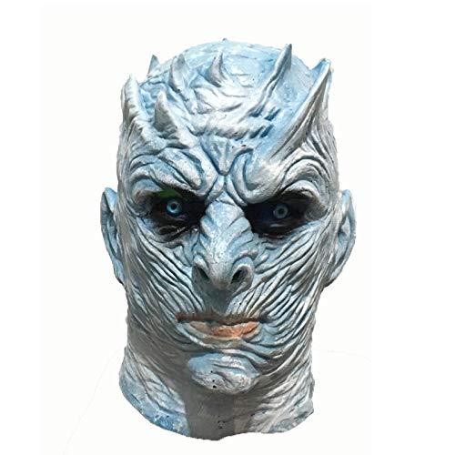 ZHAOCH Halloween Requisiten Nacht König COS Power Game EIS Und Feuer Song Requisiten Ghost King Nacht König Maske (Für Erwachsenen Eis König Kostüm)
