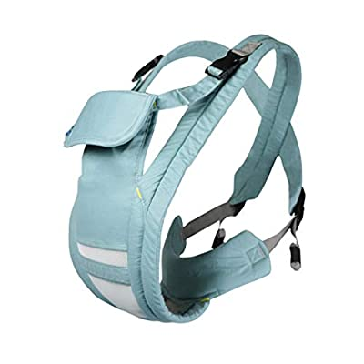 Baby Carrier, Baby Belt Before and After, Suitable for Newborn Children, Traditional Old-Fashioned Baby Sling, Multi-Purpose Sling, Four Seasons Universal (Color : Blue)