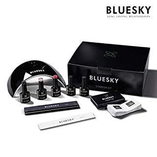 Bluesky UV/Gel Professional Nail Polish and Lamp Starter Kit (LED Lamp, Cleansing Wipes, File, Buffer, Top Coat, Base Coat and 3 x Colours) [AMAZON EXCLUSIVE]