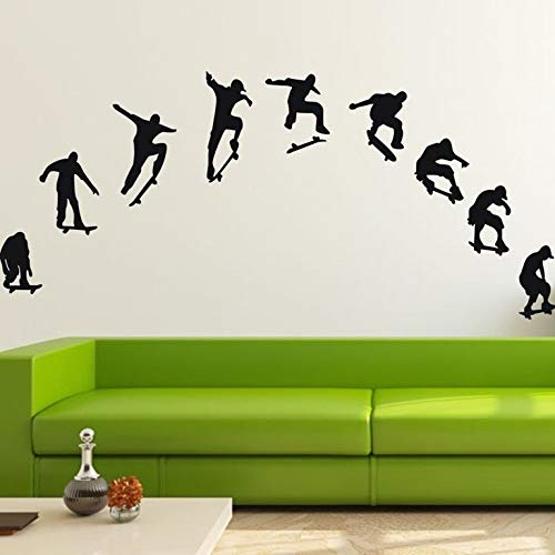 9 Skateboard Boys Wall Stickers Nursery Decal Removable Mural Deco Vinyl  Kids Au