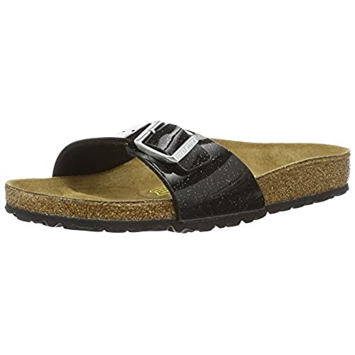 BIRKENSTOCK Damen Florida Birko-Flor Softfootbed Pantoletten, Schwarz (Magic Galaxy Black), 37 EU
