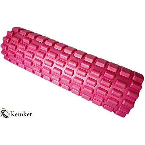 Rullo in schiuma per massaggio muscolare il Firmest, massaggio più dal design unico, qualità da ginnastica Extra rigidi, indistruttibile Core. Get rapido sollievo dal ginocchio, il mal di schiena, dolore ai polpacci, rosa