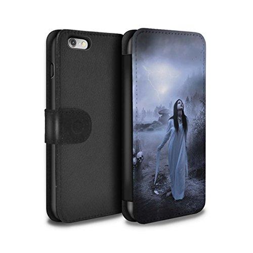 Officiel Elena Dudina Coque/Etui/Housse Cuir PU Case/Cover pour Apple iPhone 6S / Vent/Orage/Forêt Design / Magie Noire Collection Autel/Rituel/Décès