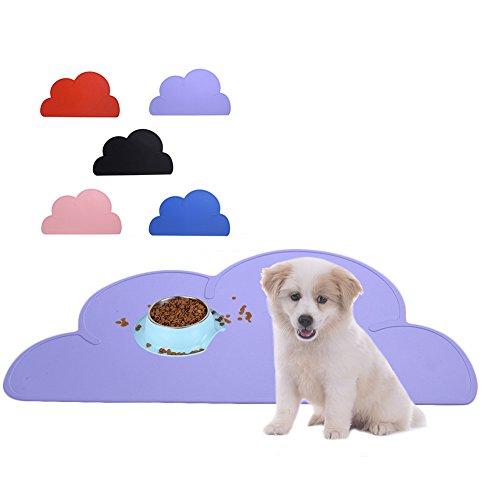 Haustier Hunde/Katze Napfunterlage Napfuntersetzer Futterunterlage Futtermatte wie Wolken LianLe (Schwarz)