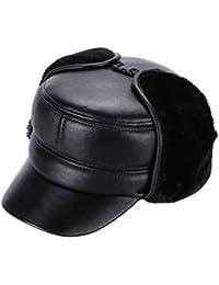 Gorra de béisbol de Piel de Oveja para Hombre con Orejeras Grueso cálido de  Invierno Clásico ed261e708c2