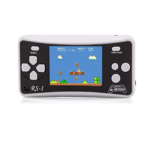 E-Wor Handheld-Konsole, 6,4cm (2,5 Zoll) LCD, 8-Bit, Retro, 162x Videospiele,Blau-Weiß -