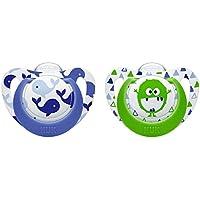 NUK Genius Color Silikon, verbesserte kiefergerechte Form, BPA frei, 2 Stück