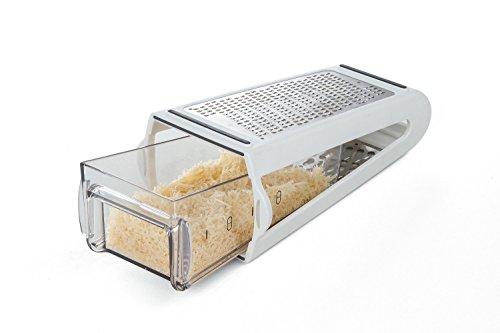 Box Reibe mit Collector: Käse, Parmesan, Schokolade: Reiben & Messen (Collection Vertikale Box)