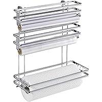 Wenko Style Portarrollos de Papel de Cocina Trio, Metal, Plata Brillante, 13x32x33 cm