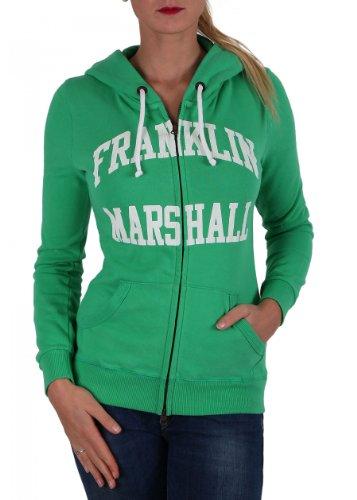 "'Franklin & Marshall felpa da donna ""Fleece zip + HOOD long Pitch Green pitch green S"