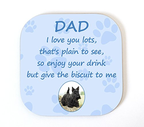 eedf18c8a306 Starprint Sublimation Posavasos divertido con texto en inglés I Love You  Dad Scottish Terrier I Love