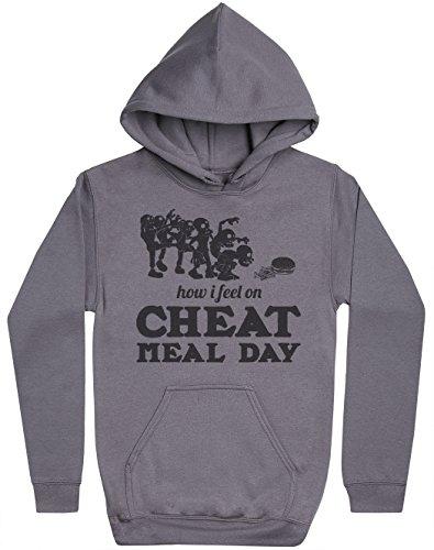 Phunky Buddha How I Feel On Cheat Meal Day Herren Kapuzenpullover - Herren Kapuzensweatshirt - Charcoal Grau, XX-Large (Cheats Für W)