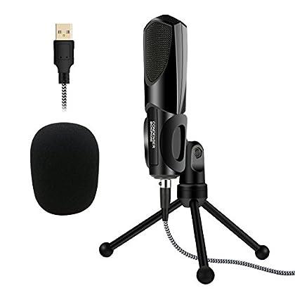 Micrófono PC, ELEGIANT Condensador USB Profesio...