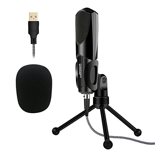 ELEGIANT USB PC Mikrofon, Kondensator Computer Mikrofon Gaming PC Studio Podcast Microphone Aufnahmen Set Plug & Play Mit Ständer Für Skype, Schall, PC, Laptop, YouTube,Twitch, Studio-Aufnahmen