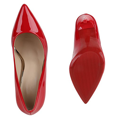 Stiefelparadies , Coupe fermées femme Rouge