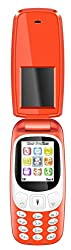 I KALL K3312 Red Dual sim flip mobile with vibration Feature, 800 mAh battery capacity with 101 Days replacement warranty with 1 Year manufacturer warranty