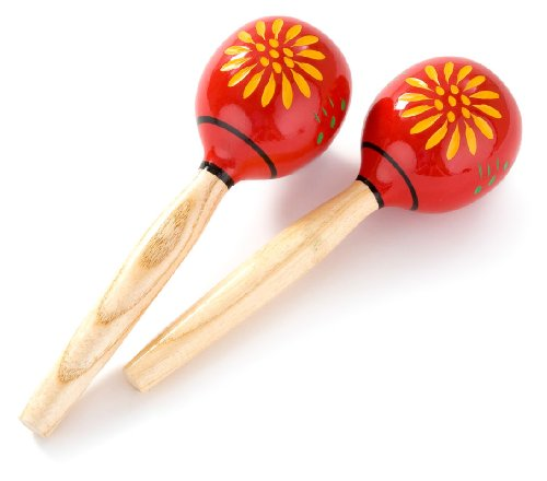 Percussion Plus Wooden Maracas - Red