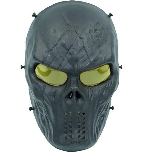 Erwachsene Für Terminator Kostüm - QWEASZER Terminator Deathstroke Mask Halloween Ritter Maske Cosplay Erwachsene Männer Integralhelm Kostüm Film Karneval Kostümzubehör,Q-29 * 22cm