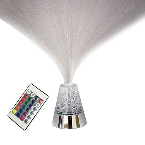 Luz noche fibra óptica control remoto 16 cristales