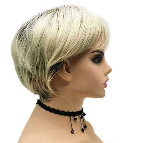 Ruihad Perücke, blond, für Damen, mit Bob, natürliches Aussehen, Schwarz, Braun, gemischte Farbe, kurz, gewellt, Kunsthaar, hitzebeständig, für Kostüme und Cosplay