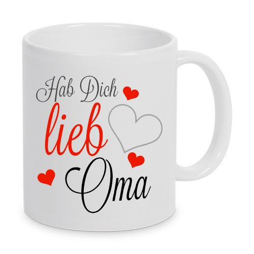 Hab Dich lieb Oma - Tasse - Kaffeetasse - Tasse mit Spruch