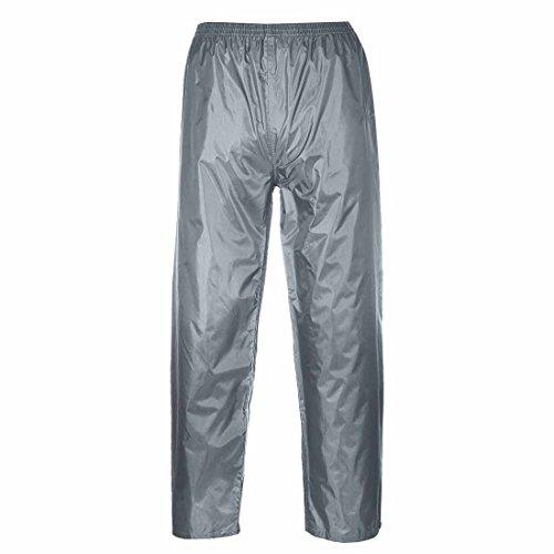 Portwest Klassische Regenhose, für Erwachsene, klassischer Schnitt, M, grau grau