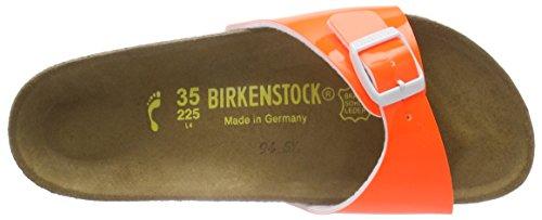 Birkenstock Madrid Birko-Flor, Mules femme Orange (Vernis Néon/Orange)