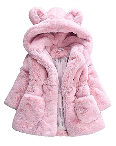 Shifan giacca pelliccia artificiale ragazza cappotto giacche manica lunga cappotti pink 120