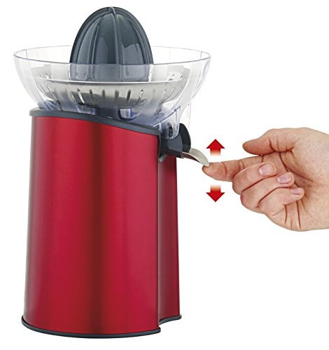 Moulinex Direct Serve Exprimidor Electrico Pc600g31 Ciclone INOX Rojo, 100 W, Acero Inoxidable