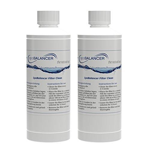2er-Pack SpaBalancer Filter Clean Classic 0,5 l