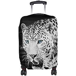 ALAZA Leopardo salvaje de la cubierta del equipaje Animal adapta a 22-24 pulgadas maleta de viaje Spandex protector