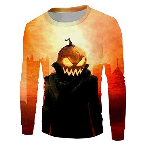 Ai Ya-weiyi Les Hommes De Neuf Vêtements Rue Rouge Creative 3D Printed Funny Halloween Citrouille Personnage Big Size 6XL Homme Sweatshirt