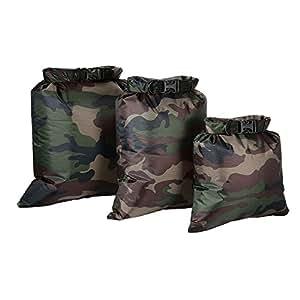 Docooler Confezione da 3 Sacchetto Impermeabile 3 L + 5 L + 8 L Ultraleggeri Sacchi Asciutti per il Campeggio