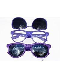 Nerd Wayfarer Brille LILA aufklappbar! 2012 + Nerd Brillenbeutel