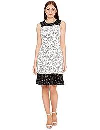 f233d8be813ac6 Roman Originals Womens Polka Dot Print Fit and Flare Dress - Ladies Spot  Print Retro Party