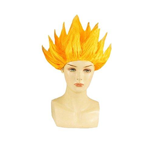 llwei258 Anime für Dragonball Cosplay Kostüm Perücke Goku Super Saiyan Hair Party Halloween (Mut Anime Kostüm)