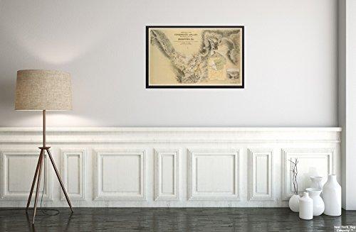 New York Map Company  1889 Karte Pennsylvania, Conemaugh (River), Vogelaugenblick auf das Conemaugh-Tal, von Nineveh bis hin zu Historischer Antik-Vintage-Nachdruck, fertig zum Rahmen.