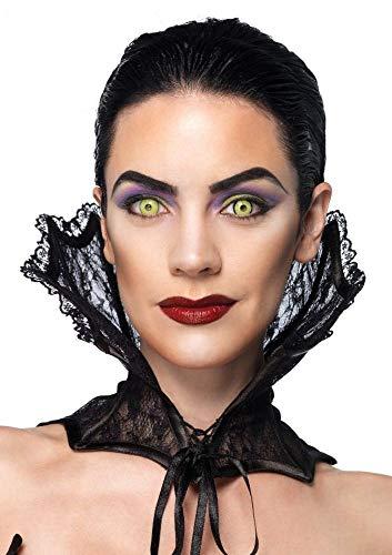 shoperama Schwarzer Vampir Korsett Kragen mit Spitze von Leg Avenue Halloween Vampirin Kostüm-Zubehör Accessoire -